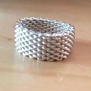 Tiffany's Sterling Silver Mesh Ring
